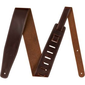 "Genuine Fender 2.5"" Broken-In Leather Guitar Strap - Brown - 099-0641-050"