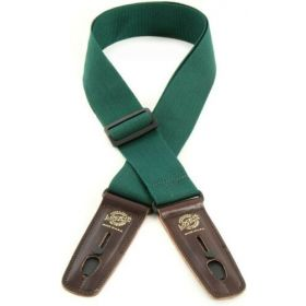 "Lock-It Straps Pro Gig Series 2"" Dark Green Poly Guitar Strap, Locking Ends"