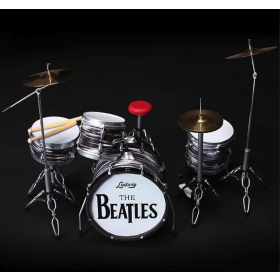 AXE HEAVEN Fab Four Classic Oyster Ringo Starr MINIATURE Drum Set Display Gift