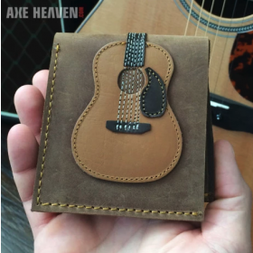 AXE HEAVEN Genuine Leather Dreadnought Acoustic Guitar Player Wallet Gift GW-001