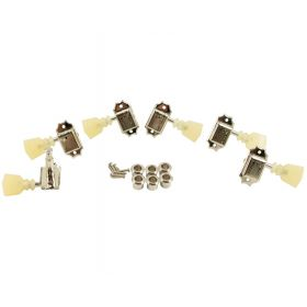 Kluson SD90SLN-DR Traditional 3x3 Keystone Pearloid Double Line, Nickel Tuners