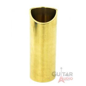 The Rock Slide, Polished Brass Guitar Slide, Medium