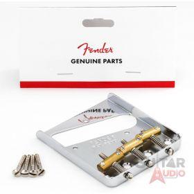 Genuine Fender American/Mexican Vintage Telecaster 3-Saddle Tele Bridge - Chrome