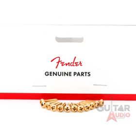 Genuine Fender GOLD Guitar Pickup/Switch Mounting Screws - Package of 12