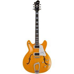 Hagstrom Super Viking Semi-Hollow Flame Maple Electric Guitar - DANDY DANDELION