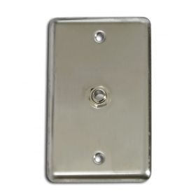 """OSP Elite Core Stainless Steel Duplex Studio Audio Wall Plate with (1) 1/4"""" Jack"""
