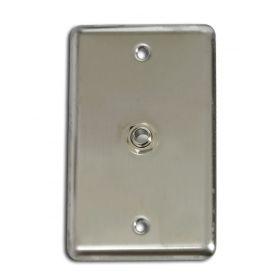"OSP Elite Core Stainless Steel Duplex Studio Wall Plate w/ (1) 1/4"" TRS Jack"
