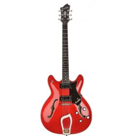 Hagstrom VIK-WCT Viking Semi-Hollow Electric Guitar - CHERRY RED