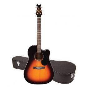 Jasmine by Takamine JD39CE-SB Sunburst Acoustic-Electric Guitar with CASE