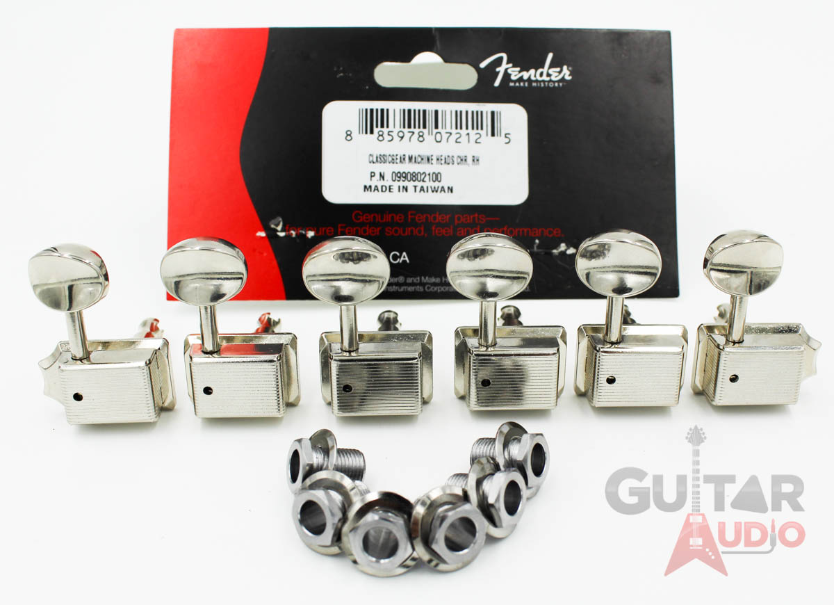 Genuine Fender 2-Pin CHROME Standard Series Guitar Tuning Machine SINGLE TUNER