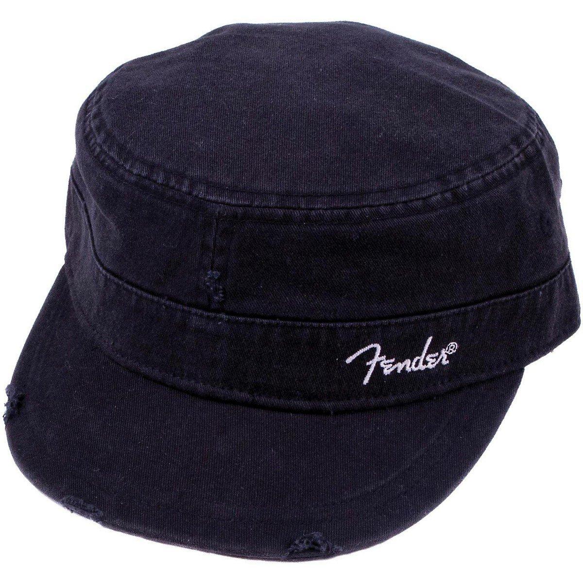 cb0fbbcfe77 Details about Genuine Fender Guitars Logo Black Military Hat Cap - S M  SMALL MEDIUM