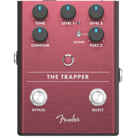 Fender The Trapper Dual Fuzz Analog Guitar Effect Stomp Box Pedal