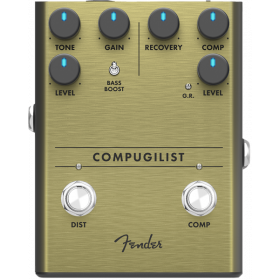 Fender Compugilist Compressor/Distortion Analog Guitar Effects Stomp Box Pedal