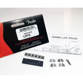 Genuine Fender LSR Roller Chrome Guitar Neck String Nut with Mounting Hardware