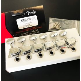 Genuine Fender CHROME '70s F Tuners Strat/Tele Stratocaster/Telecaster Machines