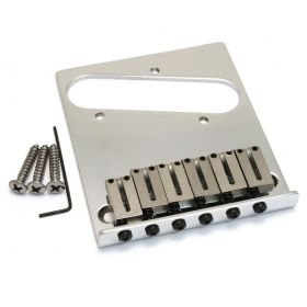 Genuine Fender American Standard Series 6-Saddle Tele Telecaster Bridge - CHROME