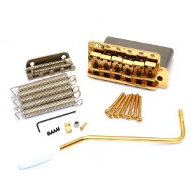 Genuine Fender USA American Vintage 57/62 Strat Tremolo Bridge Kit - GOLD