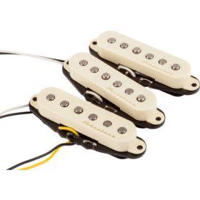 Genuine Fender Vintage Noiseless Stratocaster Guitar Pickups Set - AGED WHITE