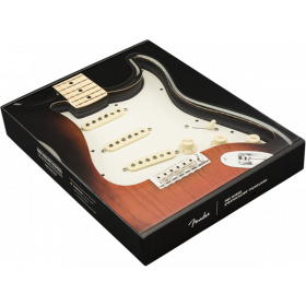 Genuine FENDER Pre-Wired TEX-MEX Loaded Strat 11-Hole Parchment Pickguard
