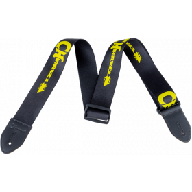 Genuine Charvel Logo Guitar Strap, Black with Yellow Logo