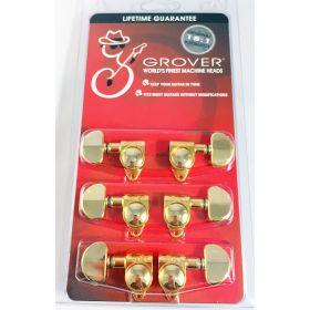 Grover 102-18G Rotomatic 18:1 Guitar Machine Head Tuners - Set of 6 (3x3) GOLD
