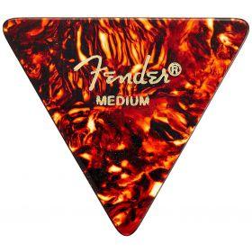 Genuine Fender 355 Shape Triangle Tortoise Shell Guitar Picks - 12-Pack - Medium