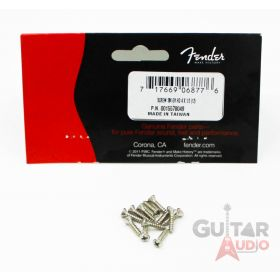 (Pack of 12) Genuine Fender Oval Head NICKEL Pickguard Screws for Guitar/Bass