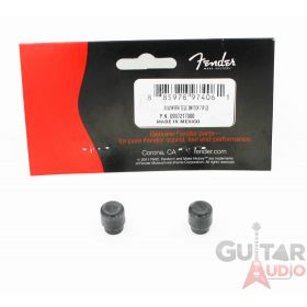 Genuine Fender ROAD WORN Black Telecaster/Tele Top Hat Switch Tips, 2 Pack
