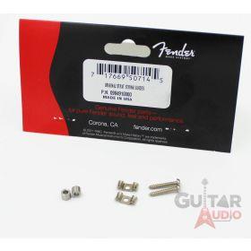 Genuine Fender Original Strat Stratocaster Chrome String Guides Trees w/ Screws