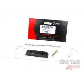 Genuine Fender Original Black Thumbrest for P/J Bass Guitar w/ Template & Screws
