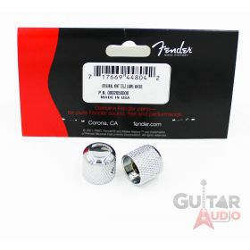 Genuine Fender Original Tele/Telecaster or Precision Bass Dome Knobs - Chrome