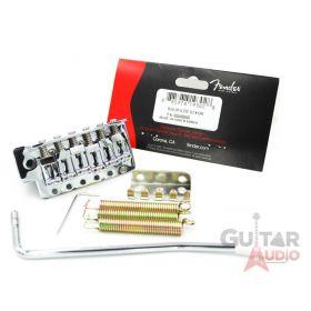 Genuine Fender Chrome Squier 99 Strat/Stratocaster Tremolo Bridge Assembly