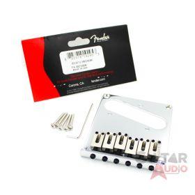 Genuine Fender Squier Standard Telecaster/Tele 6-Saddle CHROME Guitar Bridge