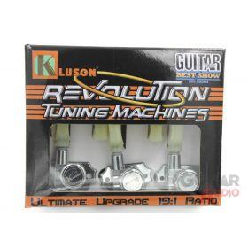 Kluson Revolution KRGL-3-CP 3X3 Locking Tuners, Keystone Buttons, CHROME