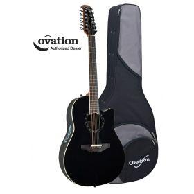 Ovation Standard Balladeer 2751AX 12-String Acoustic-Electric Guitar - Black