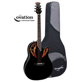 Ovation Standard Elite 2778AX Acoustic-Electric Guitar - Black with Case