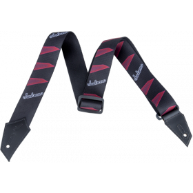 Genuine Jackson Logo Guitar Strap, Headstock Pattern, Black/Red