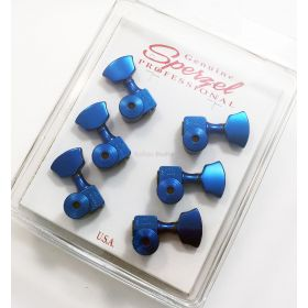 Sperzel 3x3 Trimlok 3 Per Side Locking Guitar Tuners 3+3 Tuning Pegs - BLUE