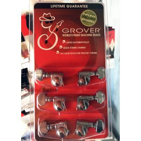 Grover 406C Mini Rotomatic Locking 18:1 Guitar Machine Heads Tuners - 3x3 CHROME