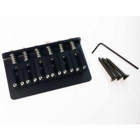 Hipshot 41200M Modern Spacing 6-String Hardtail Guitar Bridge - BLACK