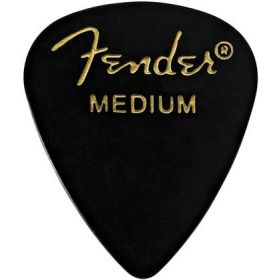 Fender 351 Classic Celluloid Guitar Picks - BLACK - MEDIUM - 144-Pack (1 Gross)