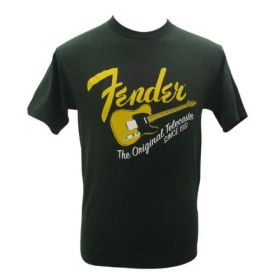 Genuine Fender Original Tele/Telecaster Guitar Men's Tee T-Shirt - GREEN - XL