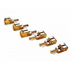 Babicz Full Contact Hardware Strat/Stratocaster Narrow Bridge Saddle Set - GOLD