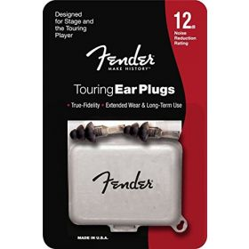 Fender Touring Ear Plugs, 12dB Noise Reduction Rating, One Pair with Case
