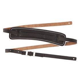 Genuine Fender Standard Vintage Adjustable Leather Guitar Strap - Black