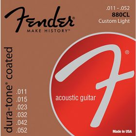 Fender 880CL Dura-Tone Coated Acoustic Guitar Strings - CUSTOM LIGHT 11-52