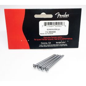 Genuine Fender Guitar CHROME Neck Mounting Screws - Package of 4