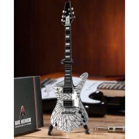 AXE HEAVEN Official KISS Paul Stanley Cracked Mirror Iceman MINIATURE Guitar