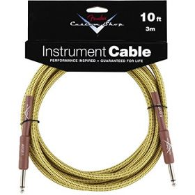 Fender Custom Shop TWEED Electric Guitar Cable, Straight to Straight, 10' ft