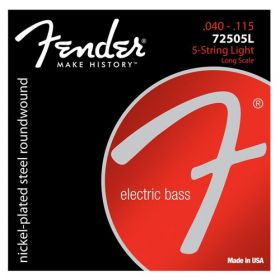 Fender 72505L NPS Roundwound Bass Strings, Long-Scale 5-STRING LIGHT 40-115